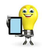 Light Bulb Character with tab — Stock Photo