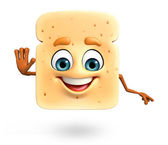Cartoon character of bread — Stock Photo