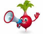 Cartoon character of beet root — Stock Photo