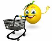 Cartoon character of lemon — Stock Photo
