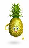 Personaje de dibujos animados de la piña — Foto de Stock