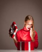 Christmas fun blond. — Stock Photo