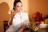 Wine tasting. — Stock Photo