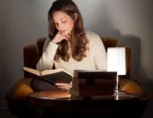 Love of reading. — Stock Photo