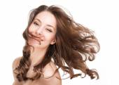 Strong healthy hair. — Stock Photo