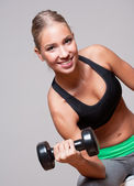 Super fit blond woman. — Stock Photo