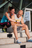 Share the fitness fun. — Stock Photo