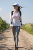 Walking is the most natural exercise. — Stock Photo