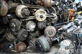 Used and surplus car engines and other car parts — Stock Photo
