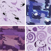 Set of seamless pattern with blots and ink splashes. Abstract ba — Stock Vector