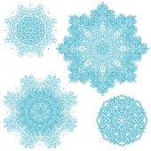 Snowflakes set for Christmas design — Stock Vector