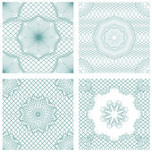 Set of seamless patterns - Guilloche ornamental Elements for Cer — Stock Vector