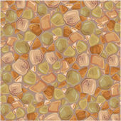 Seamless pattern - Stones Background in brown and green colors. — Stock Vector