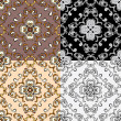 Set of squared backgrounds - ornamental seamless pattern. Design — Stock Vector #55977451