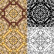 Set of squared backgrounds - ornamental seamless pattern. Design — Stock Vector #55977611