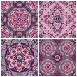 Set of squared backgrounds - ornamental seamless pattern. Design — Stock Vector #55978181