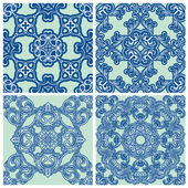 Set of squared backgrounds - ornamental seamless pattern. Design — Vecteur