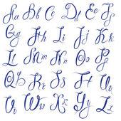 ABC - English alphabet - Handwritten calligraphic uppercase and  — Stock Vector