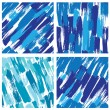 Set of seamless pattern with blots and ink splashes in blue colo — Stock Vector #64666897