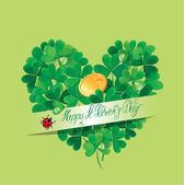 Holiday card with calligraphic words Happy St. Patricks Day and  — Stock Vector