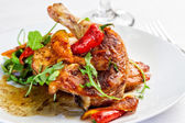 Chicken and Chilis — Stock Photo