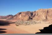 Bedouin village in Wadi Rum, Jordan. — Foto Stock