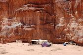 Bedouin camp in Wadi Rum desert, Jordan — Foto Stock