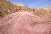 Colored rocks landscape in Negev desert. — Stock Photo