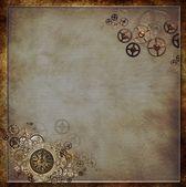 Steampunk Clock Background — Stock Photo