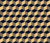 Art deco geometric seamless pattern of cubes — Vecteur