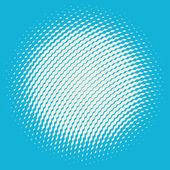 Halftone sphere — Stockvektor