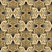 Art deco pattern of overlapping arcs — Stock Vector