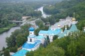 View on Sviatogorsky Assumption Laura. Sviatogorsk, Ukraine  — Stock Photo