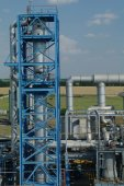Oil and gas industry ,petrochemical plant — Stock Photo