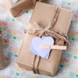 Handmade Present Box in pastel theme — Stock Photo #51918941