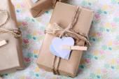 Handmade Present Box in pastel theme — Stock Photo