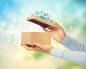 Bright and Happy Gift Box Presentation — Stock Photo