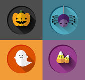 Halloween Inspired flat iIllustrations — Stock Vector