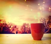 Kızıl kahve kupa — Stok fotoğraf