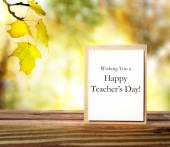 Happy teachers day greeting card — Foto de Stock