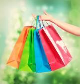 Colorful shopping bags — Zdjęcie stockowe