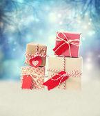 Boîtes de petit cadeau fait main — Photo