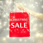 Christmas Sale shopping bag — Stock Photo