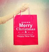 メリー クリスマス ショッピング バッグ — ストック写真