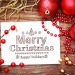 Merry Christmas message — Stock Photo #59059343