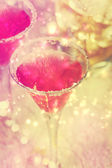 Shiny pink cocktail — Stock Photo