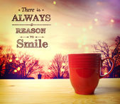 There is Always a Reason to Smile message  — Stock Photo