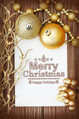 Merry Christmas message — Fotografia Stock
