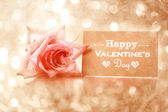 Valentine Day message card — Fotografia Stock