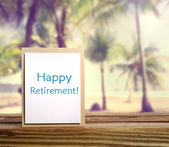 Happy Retirement Card  — Stock Photo